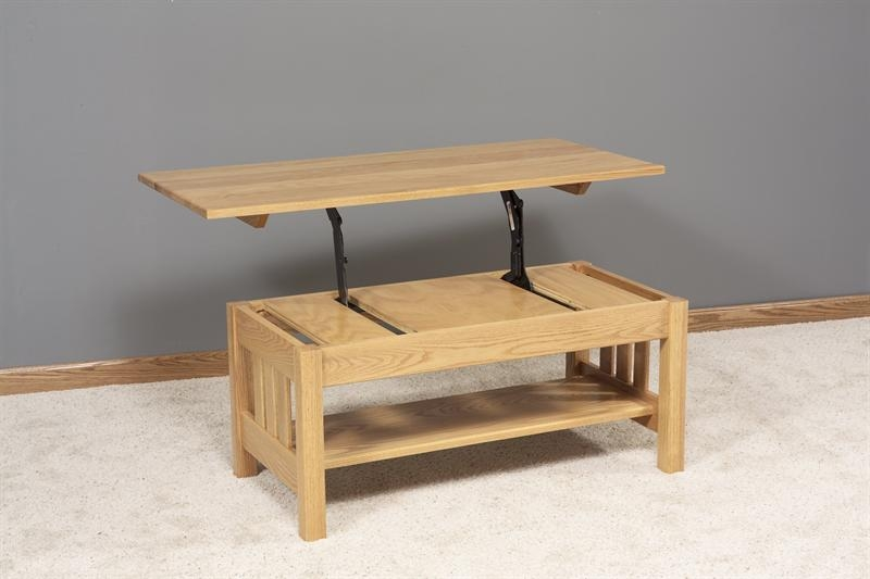 Stunning New Lift Top Oak Coffee Tables Pertaining To Coffee Table Amish Lift Top Coffee Table Solid Oak Coffee Table (Image 33 of 40)