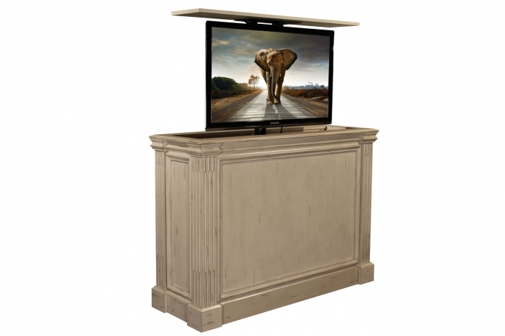 Stunning New Pop Up TV Stands Inside Ritz Camden White Tv Lift Cabinet Tv Lift Furniture (Image 46 of 50)