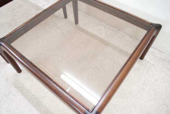 Stunning New Retro Smoked Glass Coffee Tables With Regard To Vintage Low Mahogony Smoked Glass Coffee Table For Sale At Pamono (View 21 of 40)