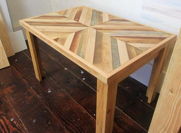 Stunning New Rustic Style Coffee Tables Regarding Diy Rustic Style Coffee Table With Reclaimed Wood With Pictures (View 10 of 50)