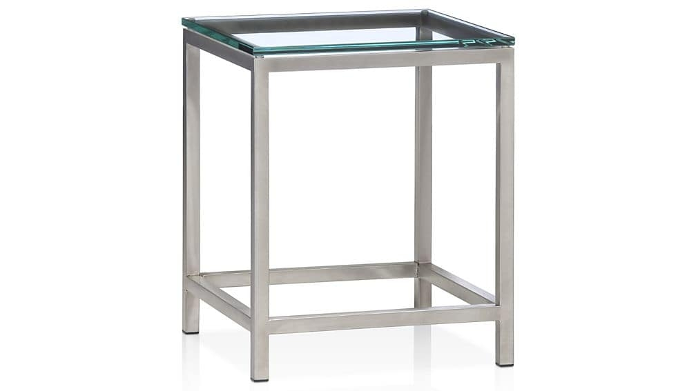 Stunning New Steel And Glass Coffee Tables Within Era Glass Side Table Crate And Barrel (Image 44 of 50)
