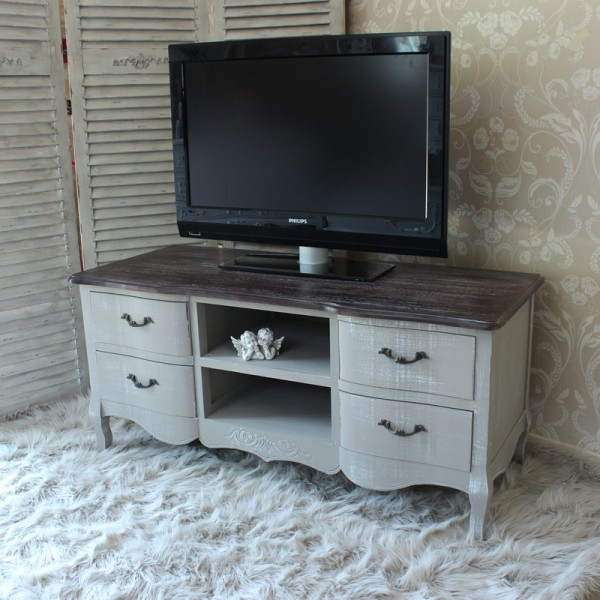 Stunning New White Painted TV Cabinets Regarding Tv Stands Awesome Whitewash Tv Unit 2017 Design Ikea Tv Stand (View 5 of 50)