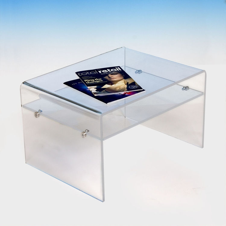 Stunning Popular Acrylic TV Stands Inside Acrylic Coffee Table With Shelf Tv Stand Tv Stands Luminati (Image 41 of 50)