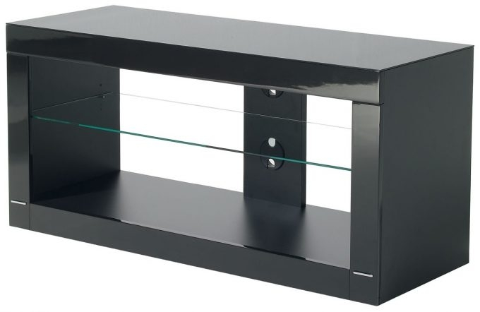 Stunning Popular Black TV Stands With Glass Doors Regarding Furniture Appealing Black Tv Stand For Home Interior Decorating (Image 42 of 50)