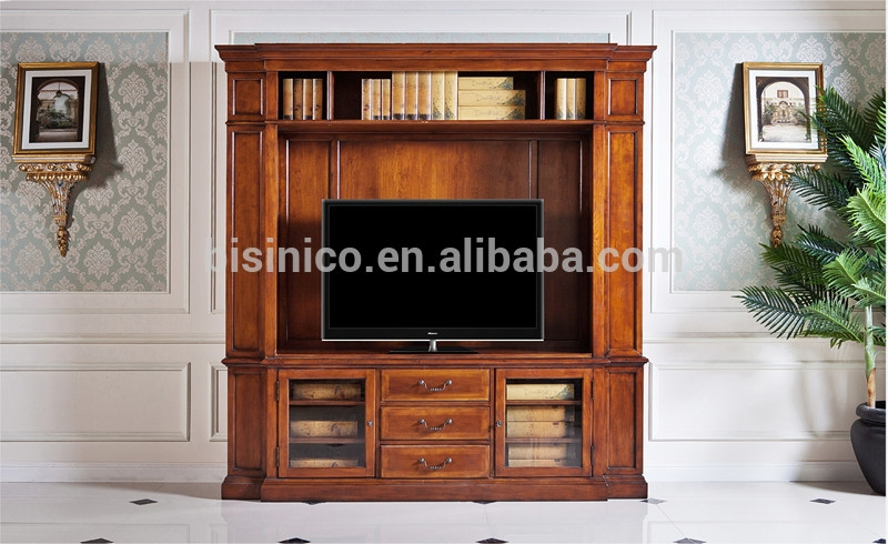 Stunning Popular Classic TV Cabinets Intended For Vintage Design Wooden Tv Cabinetamerica Style Replica Living Room (Image 42 of 50)