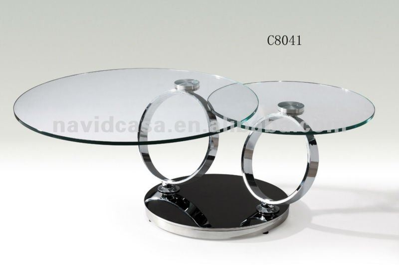 Stunning Popular Glass Circle Coffee Tables Intended For Glass Round Coffee Tables (Image 45 of 50)