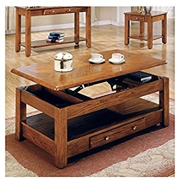 Stunning Popular Lift Top Oak Coffee Tables Inside Amazon Lift Top Coffee Table Oak With Storage Drawers And (Image 34 of 40)