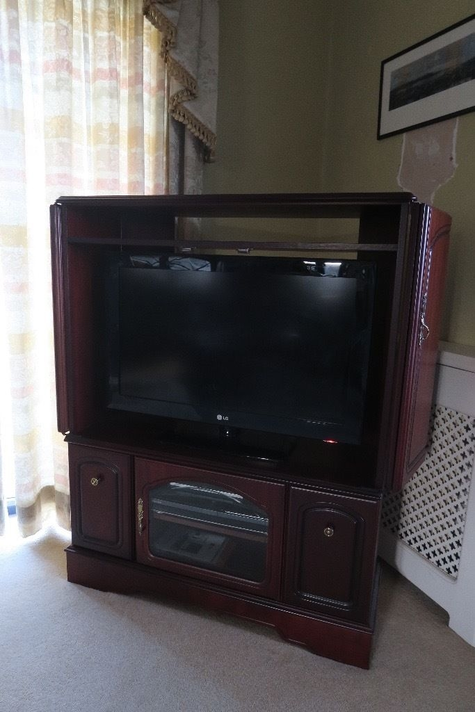 Stunning Popular Mahogany TV Cabinets Intended For Mahogany Tv Cabinet In Porthcawl Bridgend Gumtree (View 46 of 50)
