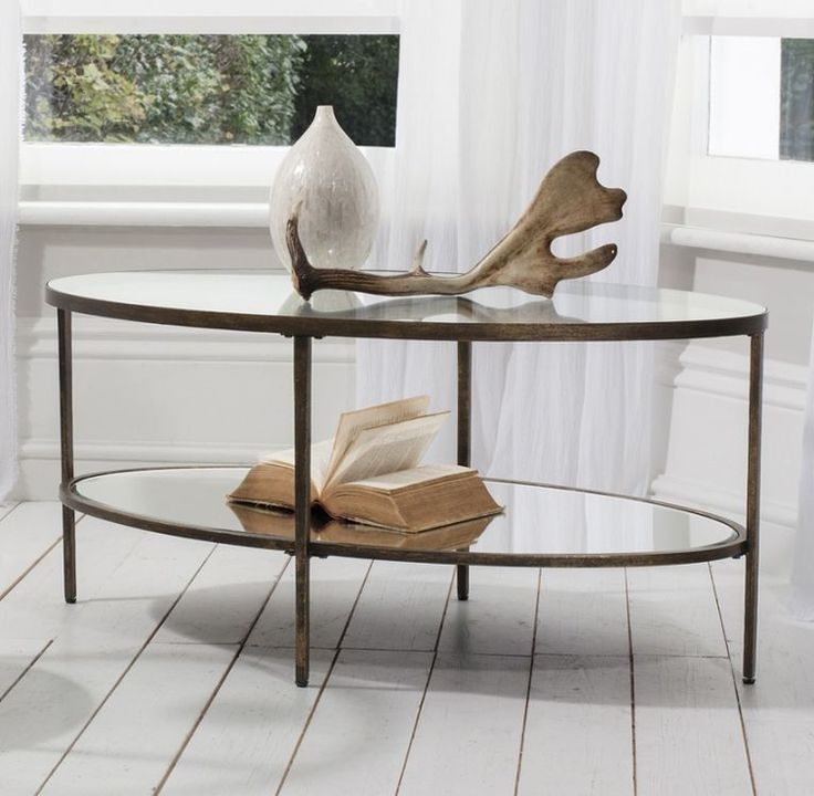 Stunning Popular Metal Oval Coffee Tables With Regard To Coffee Table Stunning Oval Glass Coffee Table Ideas Small Oval (View 45 of 50)