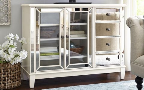 Stunning Popular Mirrored TV Stands Throughout Mirrored Tv Stand (View 11 of 50)