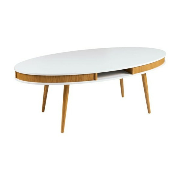 Stunning Popular Oval White Coffee Tables Regarding Oval Sofa Tables Allow Your Living Room Aesthetic Appearance (View 21 of 50)