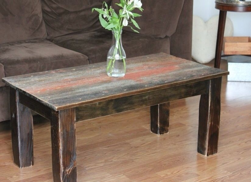 Stunning Popular Rustic Barnwood Coffee Tables In Hand Crafted Barnwood Coffee Table Ross Alan Reclaimed (View 13 of 50)