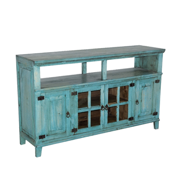 Stunning Popular Rustic Furniture TV Stands With Regard To Rustic Turquoise Tv Stand Chubs Mattress Mattresses And (Image 42 of 50)
