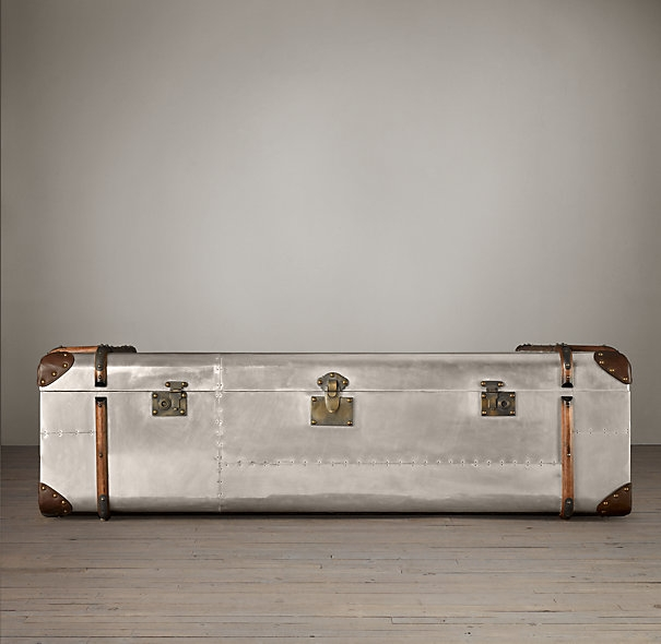 Stunning Popular Silver Trunk Coffee Tables With Regard To Mayfair Steamer Trunk Tall Coffee Table Restoration Hardware Trunk (Image 36 of 40)