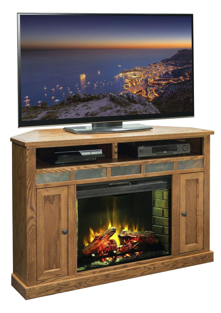 Stunning Popular Small Corner TV Stands Regarding Small Electric Fireplaces Tv Stand Thephotobayco (View 29 of 50)