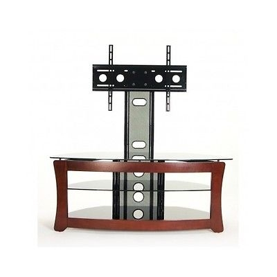 Stunning Popular Swivel Black Glass TV Stands Throughout Modern Tv Stand 55 Inch Swivel Mount Black Glass Shelves Corner (Photo 10 of 50)