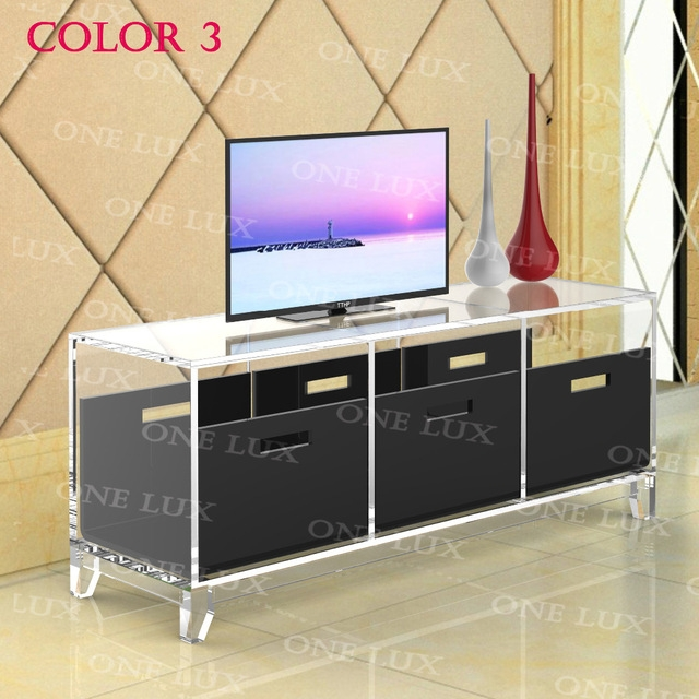 Stunning Preferred Acrylic TV Stands Within Online Shop One Lux Lcuite Acrylic Tv Stand Tableplexiglass (Image 42 of 50)