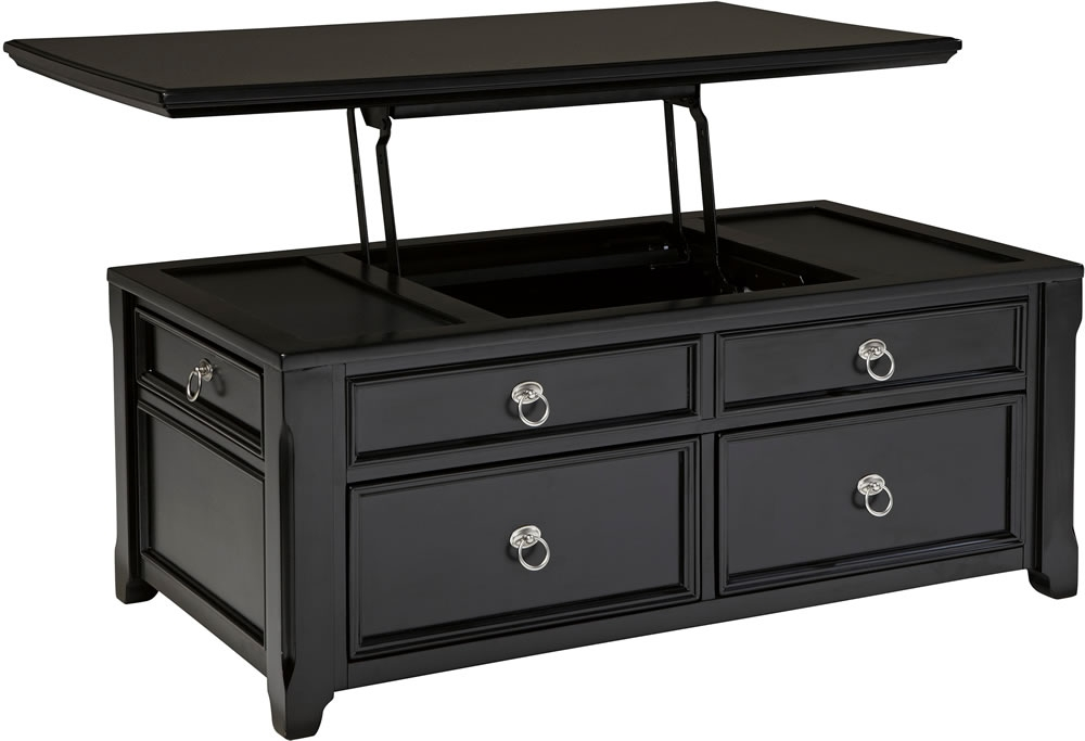 Stunning Preferred Black Coffee Tables With Storage Intended For Coffee Table Mesmerizing Black Coffee Tables Round Black Coffee (Image 39 of 40)