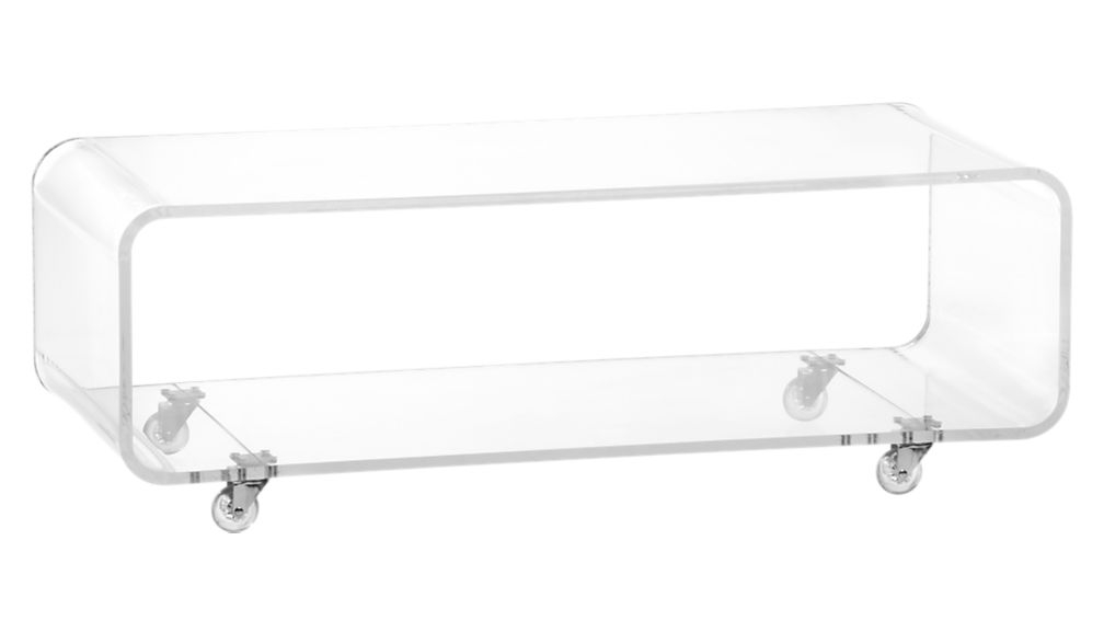 Stunning Preferred Clear Acrylic TV Stands With Peekaboo Acrylic Media Console Cb (Image 45 of 50)