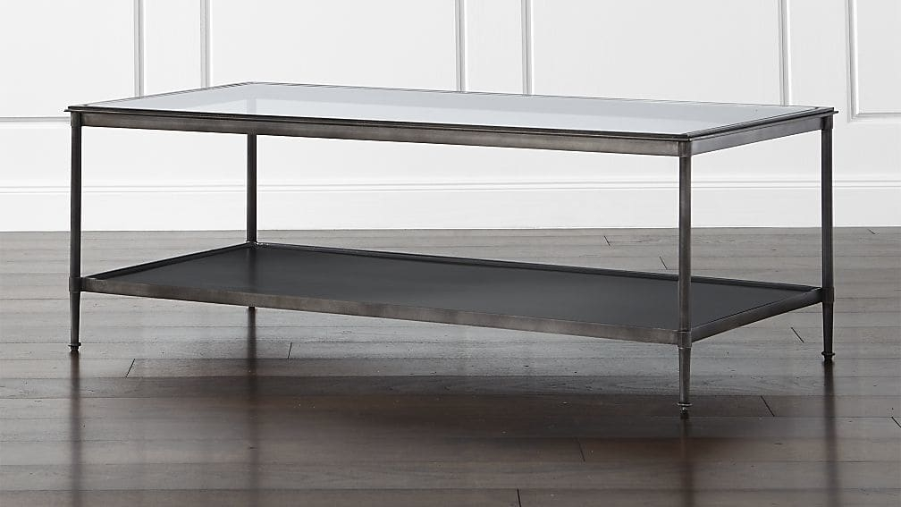 Stunning Preferred Glass And Black Metal Coffee Table With Kyra Coffee Table Crate And Barrel (Image 43 of 50)