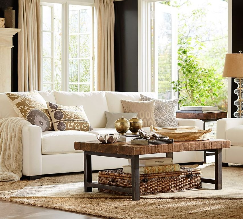 Stunning Preferred Griffin Coffee Tables Inside Traditional Living Room With Carpet Pottery Barn Zillow Digs (View 10 of 50)