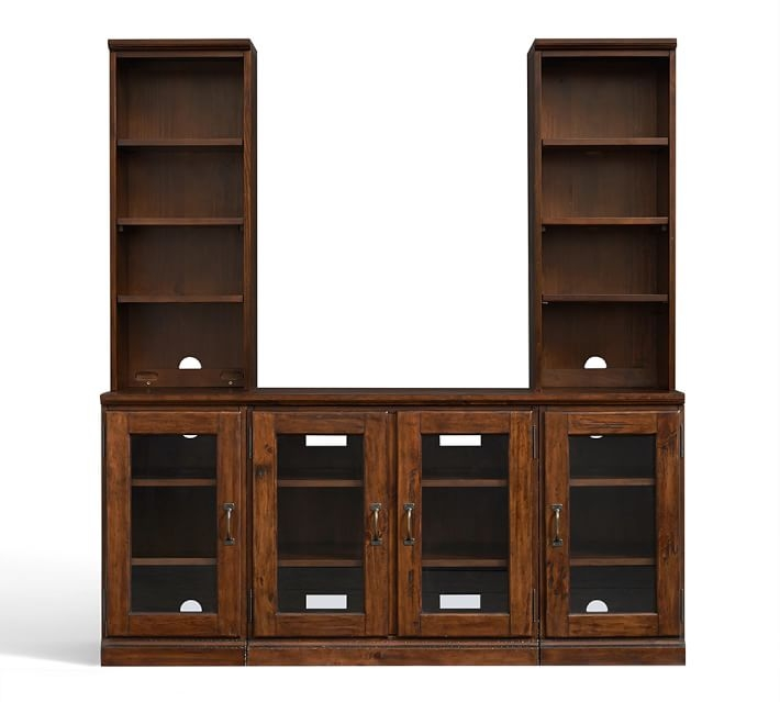 Stunning Preferred Large TV Cabinets Intended For Printers Large Tv Stand With Towers Tuscan Chestnut Pottery Barn (View 10 of 50)