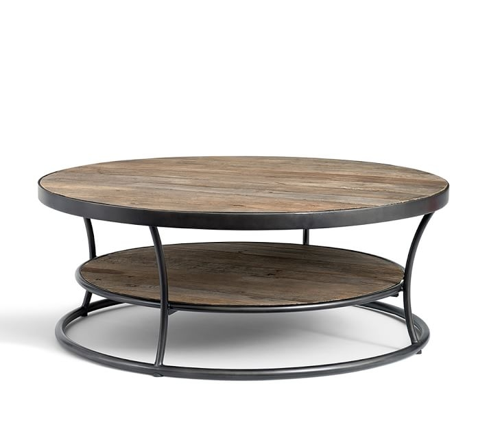 Stunning Preferred Reclaimed Wood Coffee Tables Pertaining To Bartlett Reclaimed Wood Coffee Table Pottery Barn (View 25 of 50)