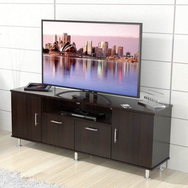 Stunning Preferred Red Gloss TV Stands Within Dcor Design Elegant 563 Tv Stand Reviews Wayfair (View 48 of 50)