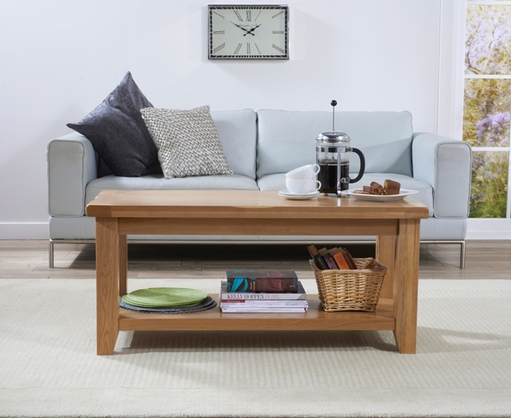 Stunning Preferred Solid Oak Coffee Table With Storage Throughout Buy Mark Harris York Solid Oak Coffee Table With Storage Shelf (Image 43 of 50)