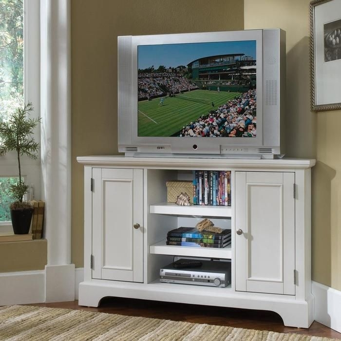 Stunning Preferred White Wood Corner TV Stands With Best 25 Small Corner Tv Stand Ideas On Pinterest Corner Tv (Image 46 of 50)