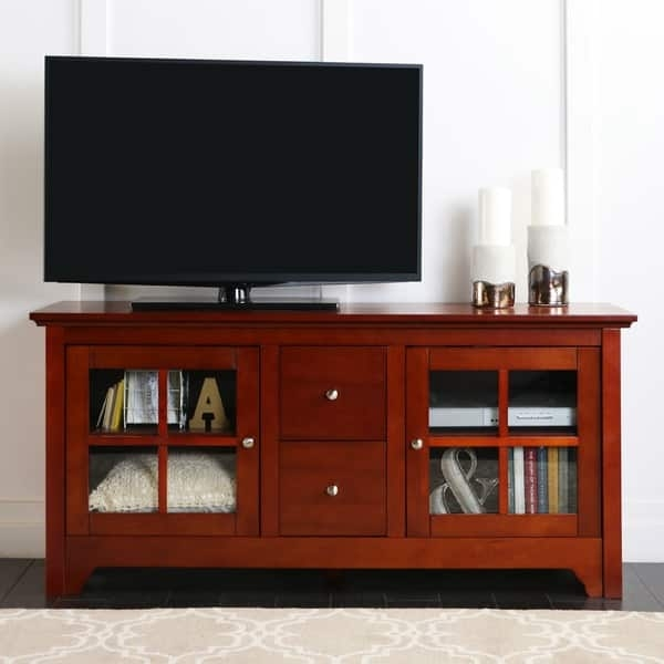 Stunning Premium Cherry TV Stands With 52 Inch Cherry Wood Tv Stand With Drawers Free Shipping Today (Image 45 of 50)