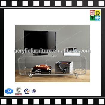 Stunning Premium Clear Acrylic TV Stands In Popular Rotatablemobile Clear Acrylic Tv Stand With Dvd Player (Image 46 of 50)