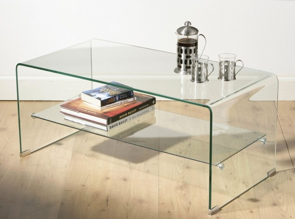 Stunning Premium Glass Coffee Tables With Shelf With Outstanding Small Glass Coffee Tables Design (View 5 of 50)