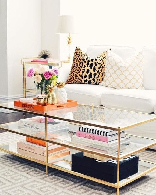 Stunning Premium Glass Gold Coffee Tables With Regard To Best 20 Gold Coffee Tables Ideas On Pinterest Gold Table (View 8 of 50)