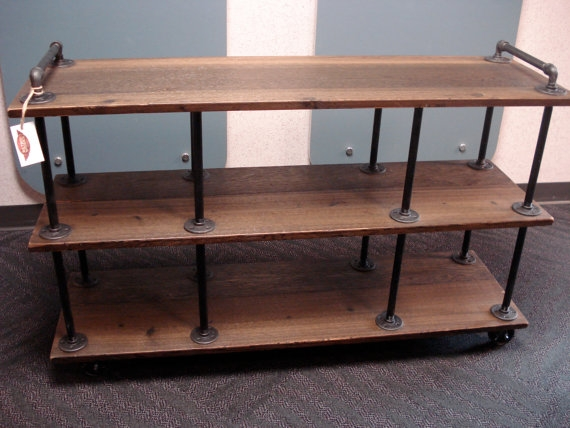 Stunning Premium Industrial TV Stands With Industrial Tv Stand Iron And Wood For 46 To  (Image 46 of 50)