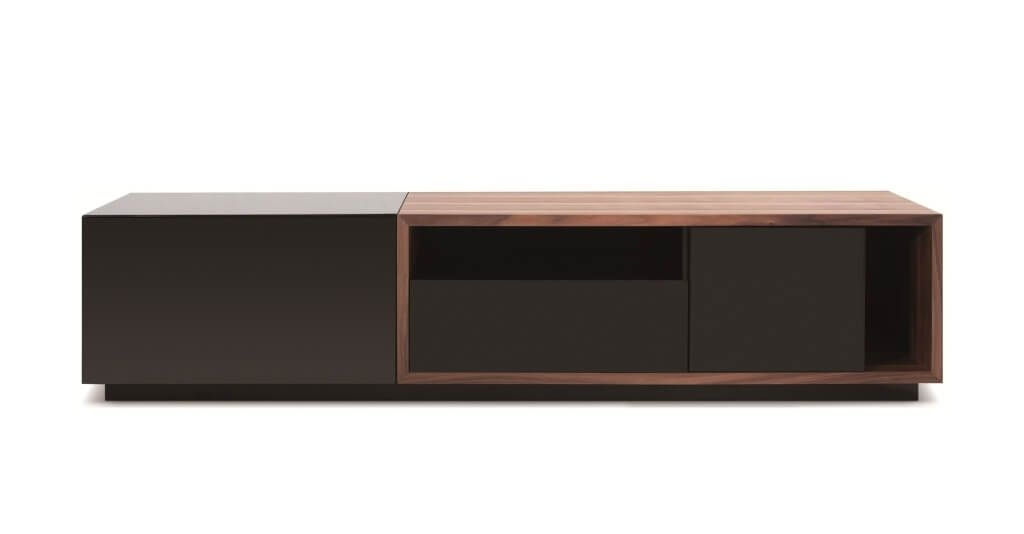 Stunning Premium Long TV Cabinets Furniture Pertaining To Furniture Enchanting White And Dark Oak Modern Tv Stands With (View 14 of 50)