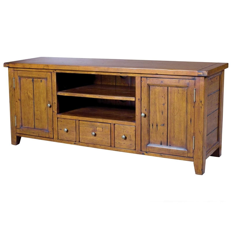 Stunning Premium Pine TV Cabinets Throughout Irish Coast Reclaimed Pine Tv Cabinet Buy Occasional Tables (Image 40 of 50)