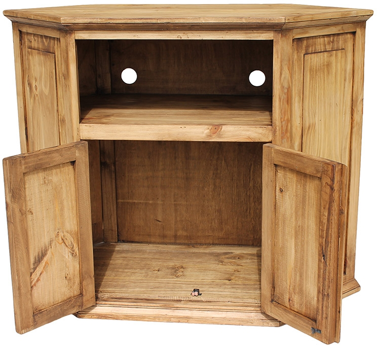 Stunning Premium Pine TV Stands Pertaining To Rustic Pine Collection Corner Tv Stand Com (Image 48 of 50)