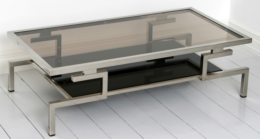 Stunning Premium Rectangle Glass Chrome Coffee Tables In Glass And Chrome Coffee Table (Image 45 of 50)