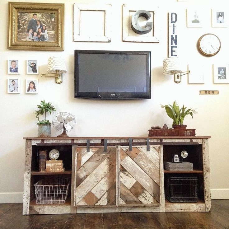 Stunning Premium Rustic White TV Stands Within 104 Best Tv Stand Pallets Images On Pinterest Furniture (View 46 of 50)