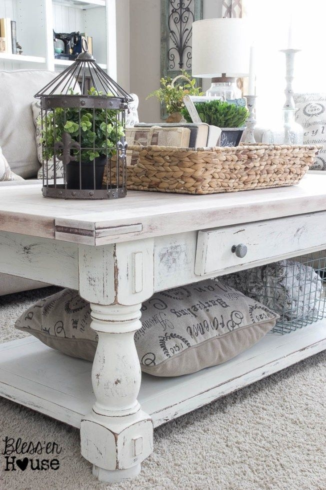 Stunning Premium White Coffee Tables With Baskets Regarding Best 25 Distressed Coffee Tables Ideas Only On Pinterest (Image 36 of 40)