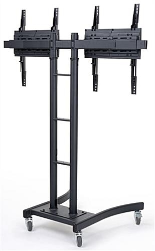 Stunning Series Of Dual TV Stands With Regard To Dual Monitor Stand Tilt Width Adjusts That Fits 32 65 Scr (Image 47 of 50)