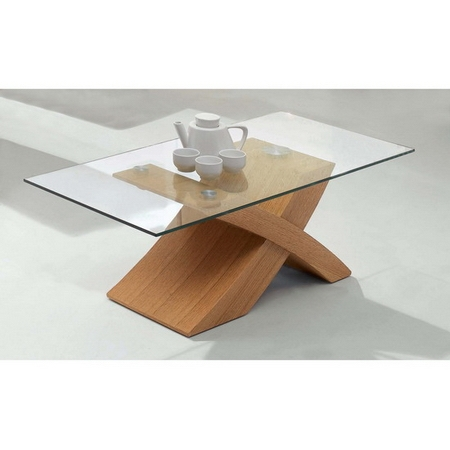 Stunning Series Of Glass And Oak Coffee Tables Intended For X Wood Oak Coffee Table (Image 42 of 50)