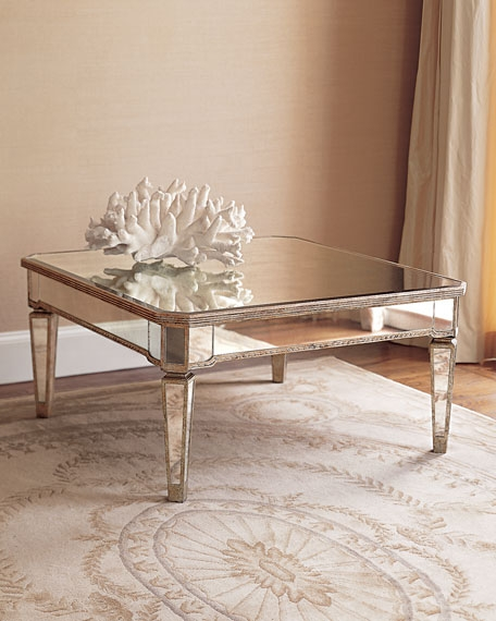 Stunning Series Of Mirrored Coffee Tables Regarding Amelie Mirrored Coffee Table (Photo 18 of 50)