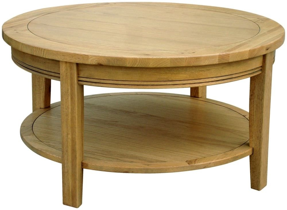 Stunning Series Of Oak Coffee Table Sets Within Antique Round Oak Coffee Table Design (Image 43 of 50)