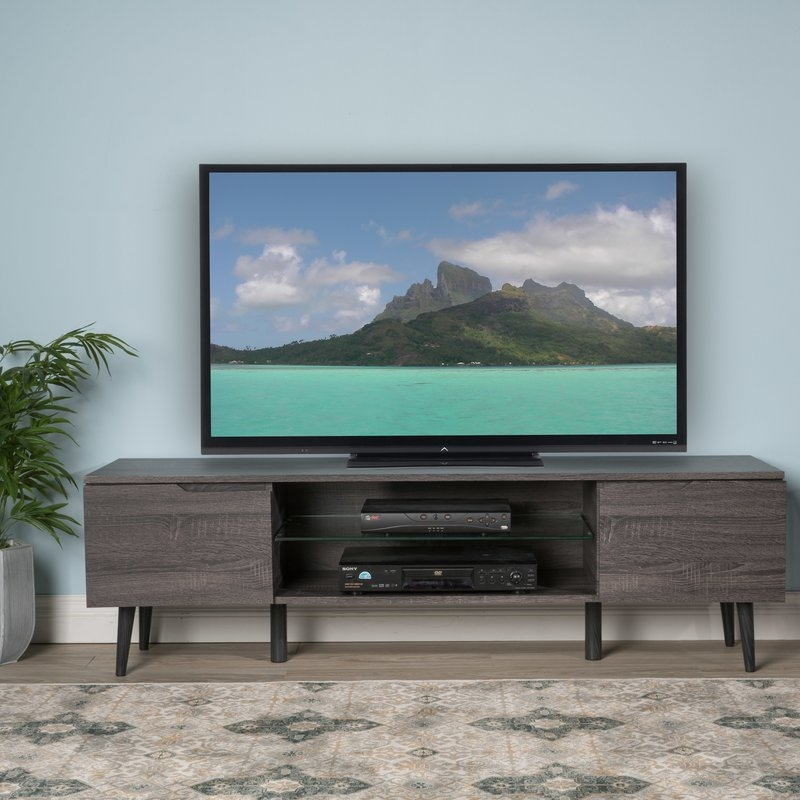 Stunning Series Of Oak Veneer TV Stands Pertaining To Home Loft Concepts Elton 59 Tv Stand Reviews Wayfair (Image 48 of 50)