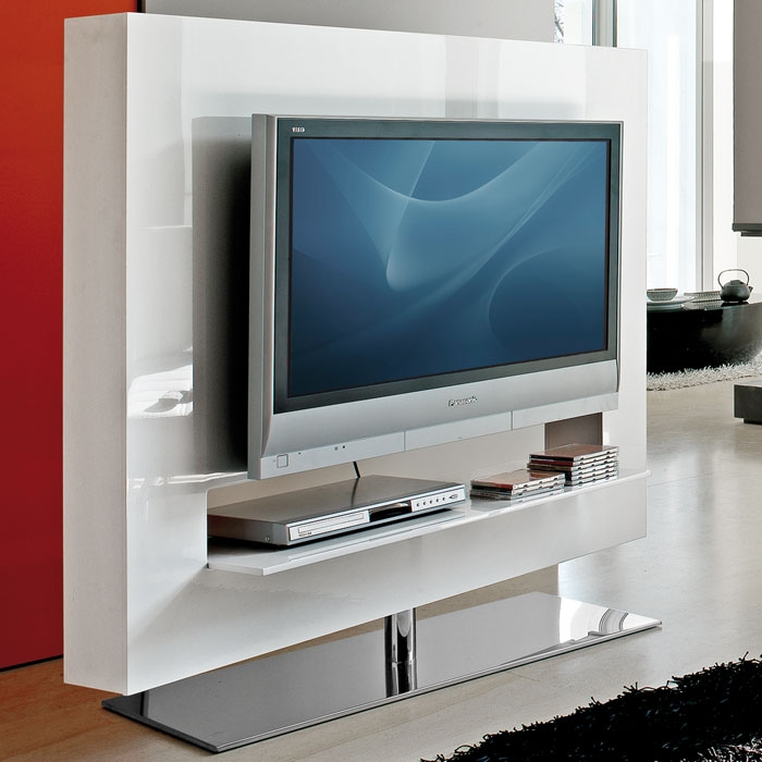 Stunning Series Of Panorama TV Stands Within Bonaldo Panorama 140 Light Swivel Tv Stand Panik Design (View 7 of 50)