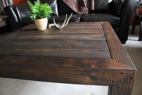 Stunning Series Of Rustic Wood DIY Coffee Tables In Rustic Pallet Coffee Table Pallet Furniture Diy (Image 45 of 50)