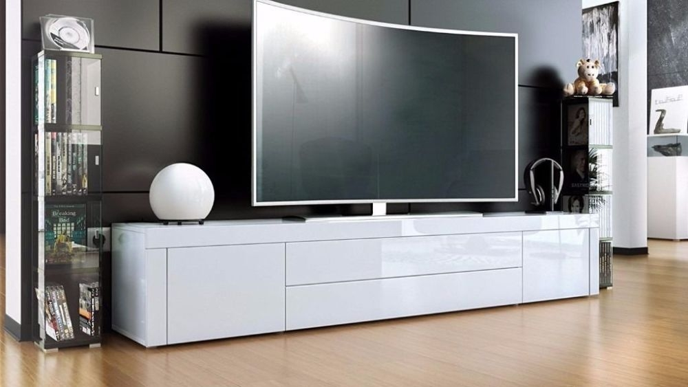 Stunning Series Of White High Gloss TV Stands Unit Cabinet Intended For White High Gloss Tv Stand Unit Cabinet Home Design Ideas (Image 42 of 50)
