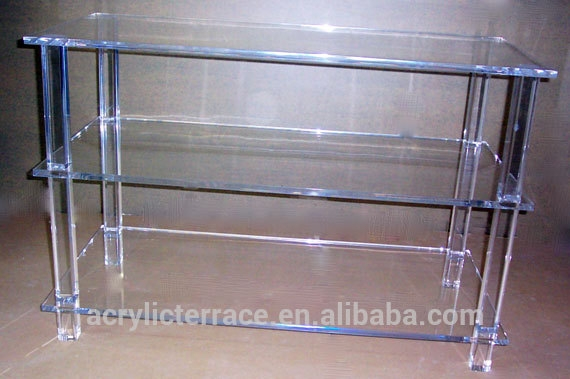 Stunning Top Acrylic TV Stands Regarding Acrylic Tv Stand Table With Shelf Acrylic Tv Stand Table With (Image 43 of 50)